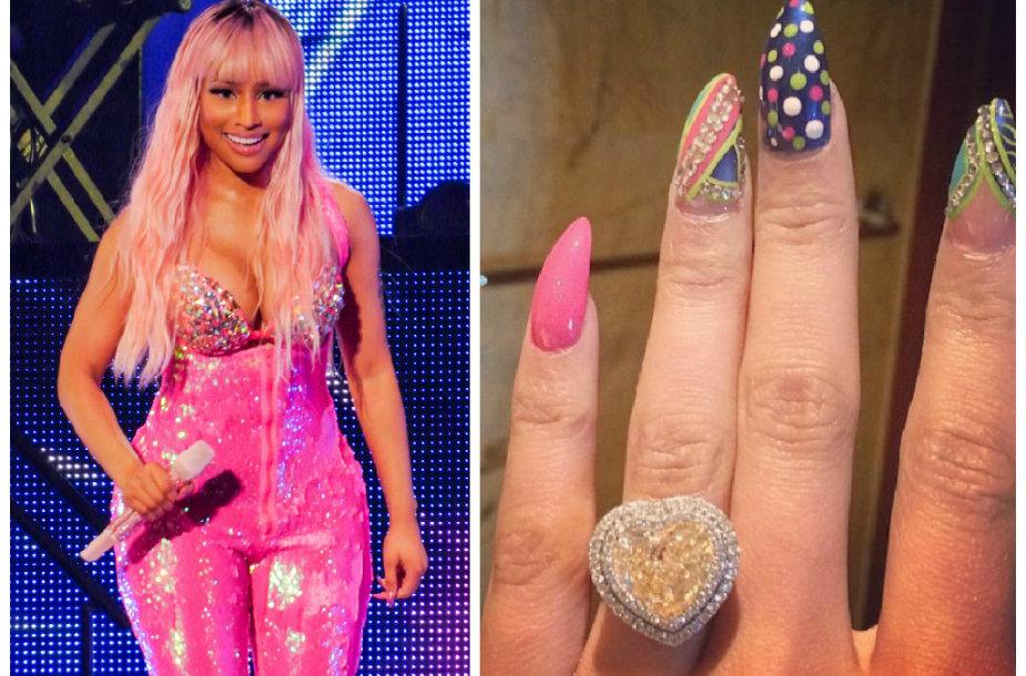 Nicki Minaj ir jos sužadėtuvių žiedas