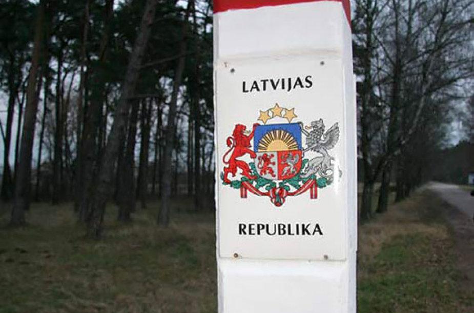 Ženklai pasienyje su Latvija