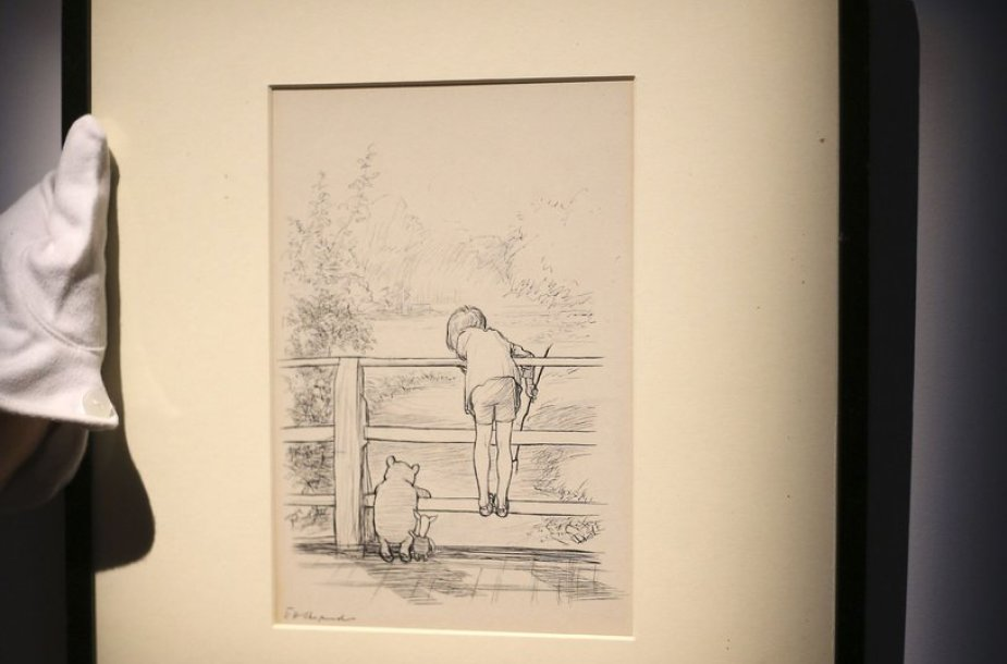 Mikės Pūkuotuko iliustracija parduota už rekordinę kainą