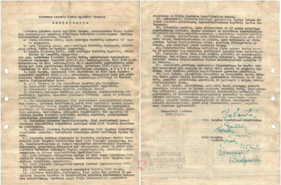 1949 metų vasario 16 dienos deklaracija