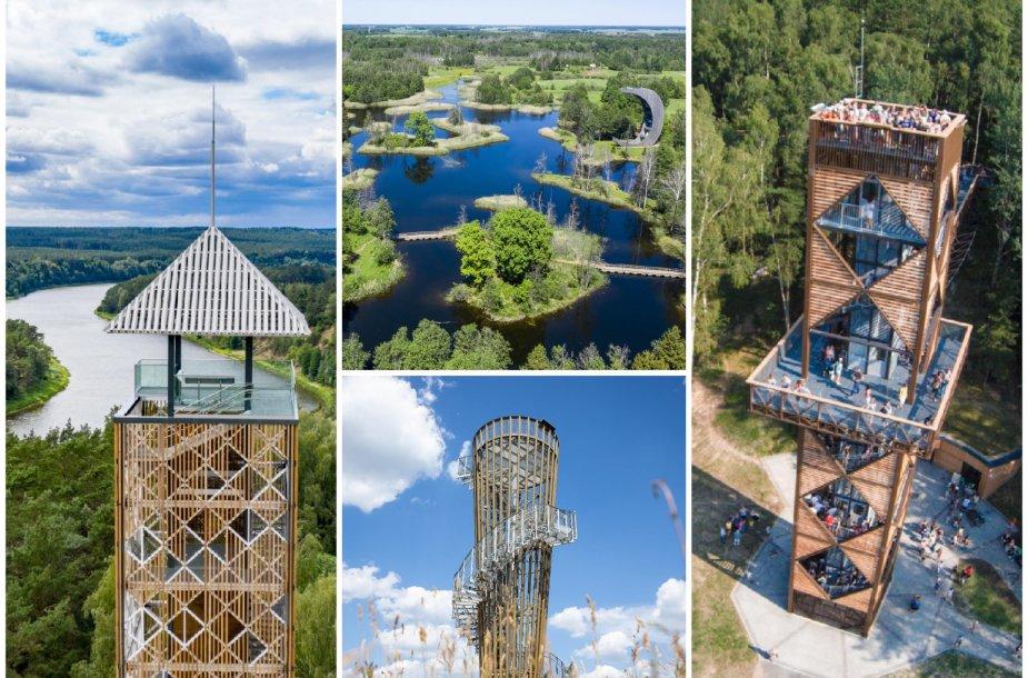 Vasarok ir pamatyk Lietuvoje: įspūdingiausi vėl atsiveriantys apžvalgos bokštai