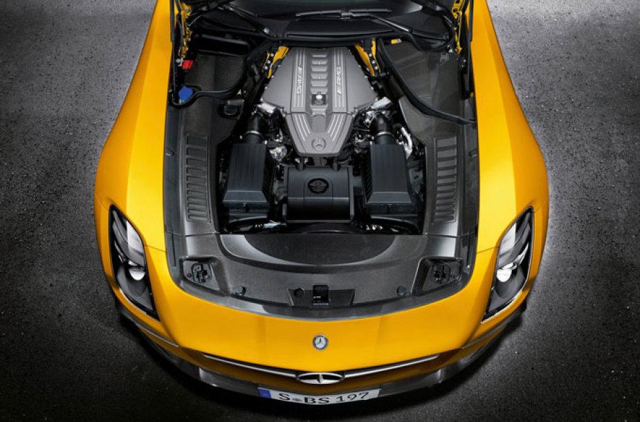 """Mercedes-Benz SLS AMG Black Series"" variklis"