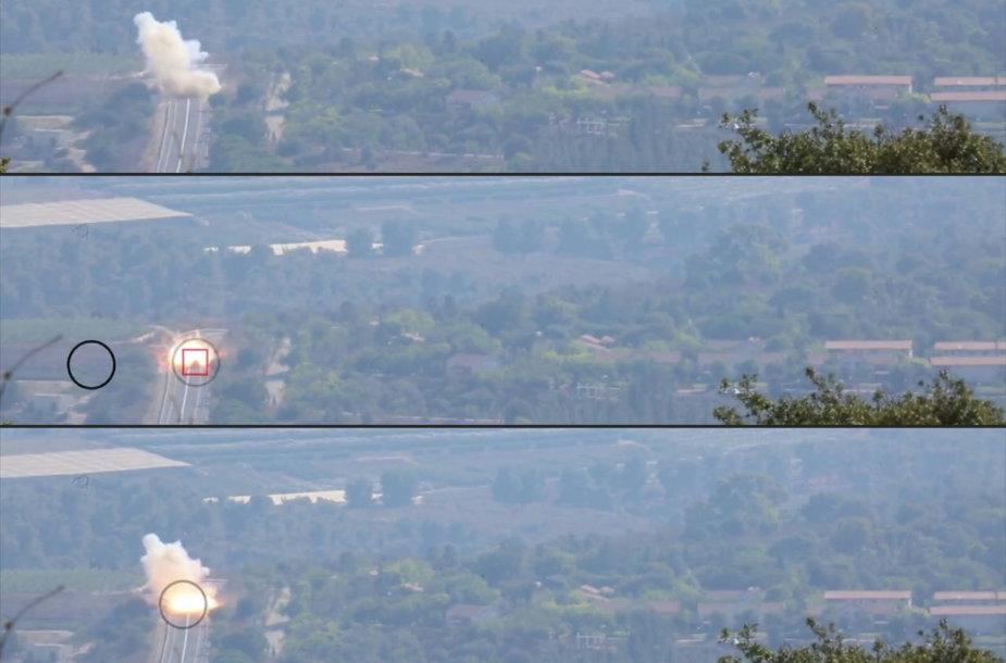 """Kadrai iš """"Hezbollah"""" išplatinto vaizdo įrašo"""