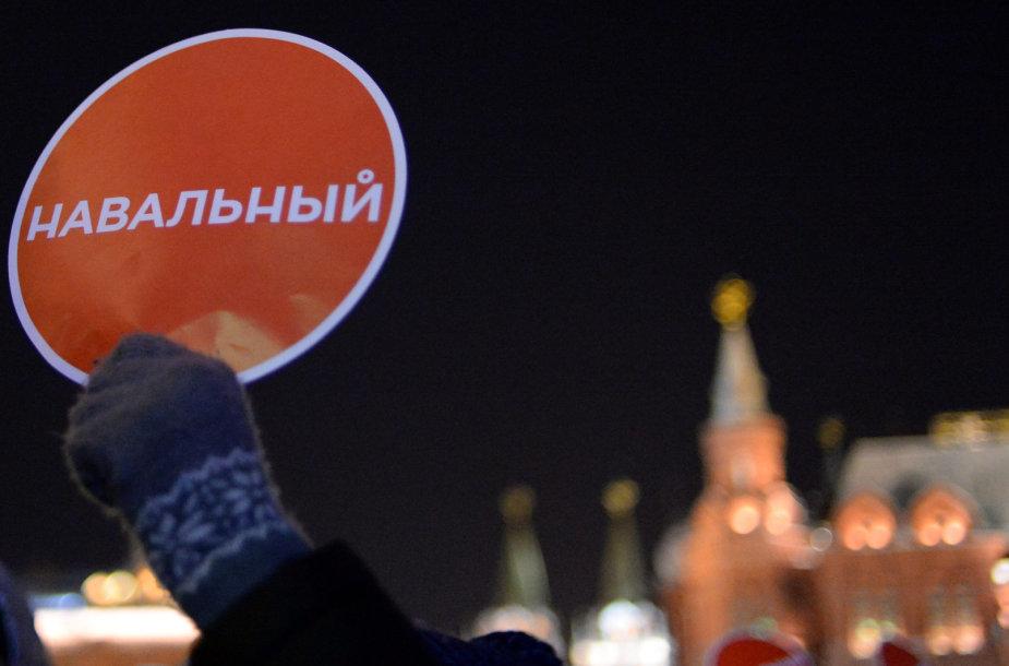 Aleksejaus Navalno rėmėjų mitingas Maskvoje