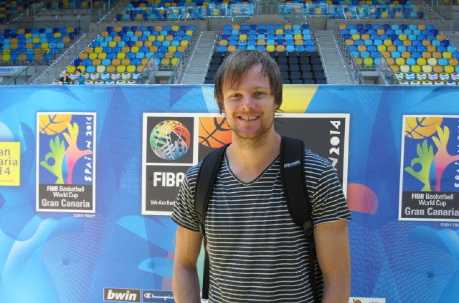 Australijos krepšinio rinktinės žaidėjas Bradas Newley