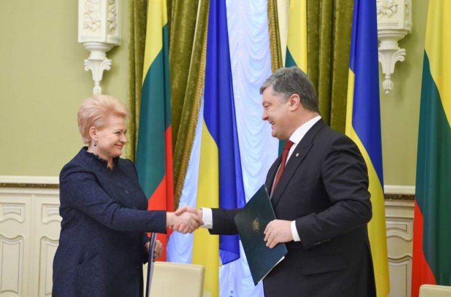 Dalia Grybauskaitė susitinka su Ukrainos Prezidentu Petro Porošenka