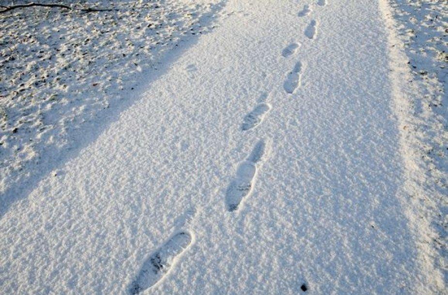 Pėdsakai sniege
