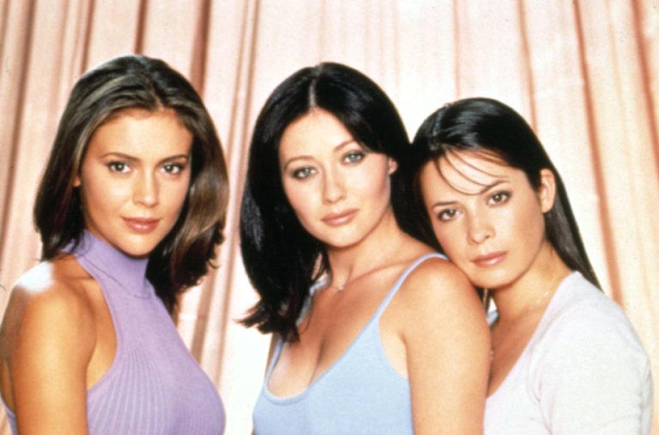 "Alyssa Milano, Shannen Doherty ir Holly Marie Combs seriale ""San Francisko raganos"" (2000 m.)"