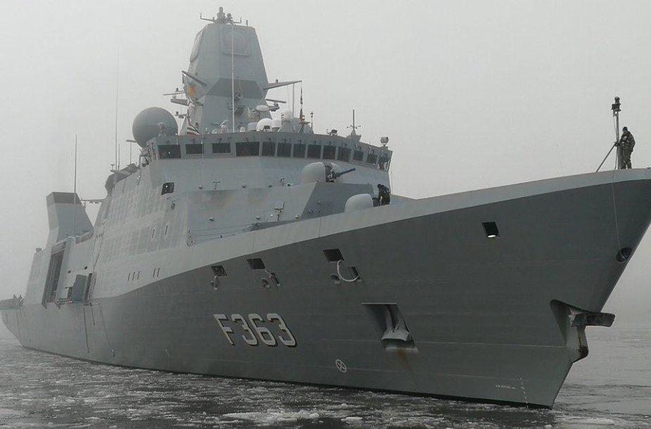 Į Klaipėdą atplaukė Danijos fregata
