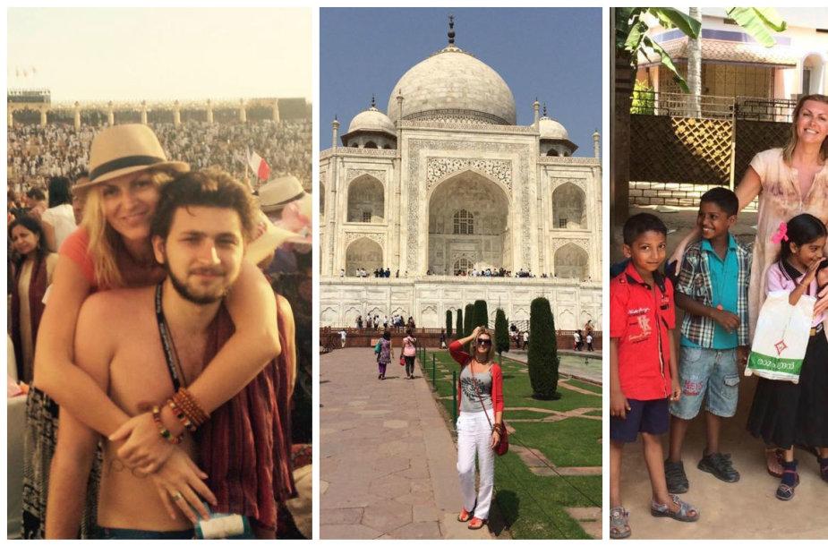 Eglės Jackaitės atostogos Indijoje
