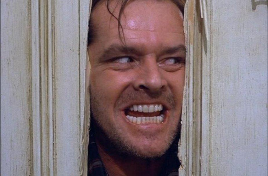"""Jackas Nicholsonas filme """"Švytėjimas"""""""