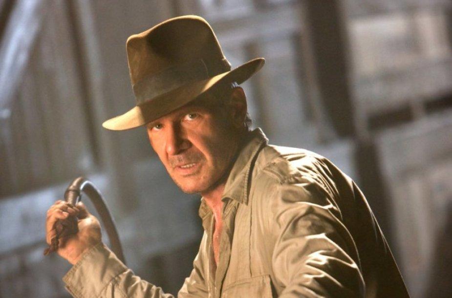 """Harrisonas Fordas filme """"Indiana Džounsas ir krištolo kaukolės karalystė"""" (2008 m.)"""