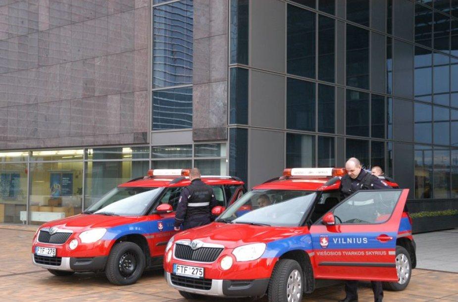 Naujieji Vilniaus miesto savivaldybės Viešosios tvarkos skyriaus automobiliai