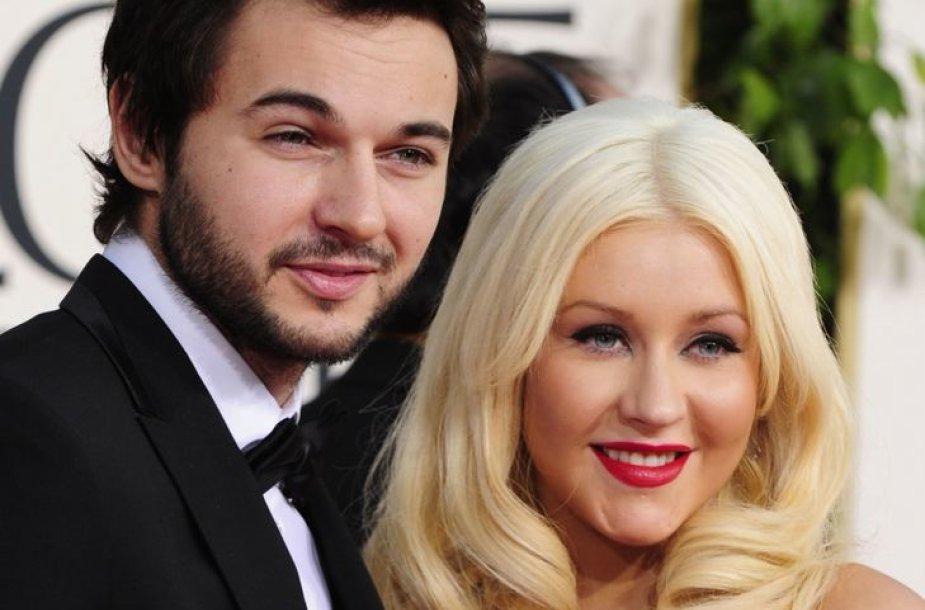 Christina Aguilera ir Mattas Rutleris