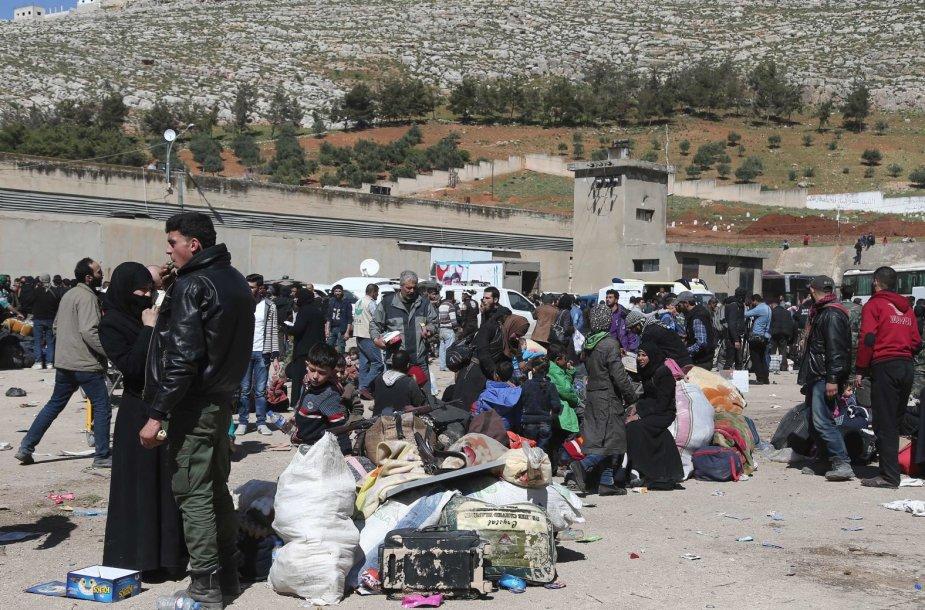 Evakuojami Rytų Gutos gyventojai
