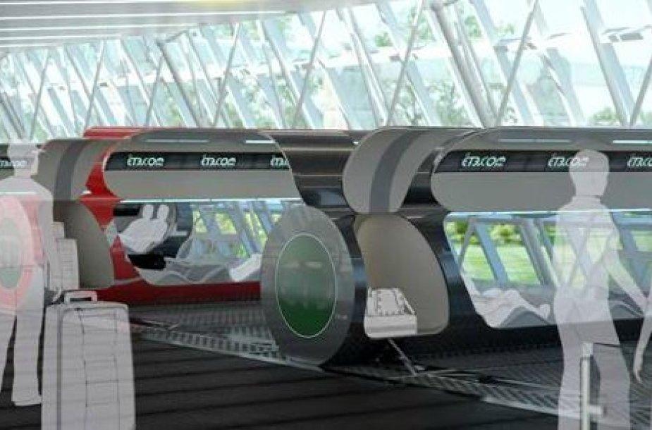 Taip galėtų atrodyti magnetinių traukinių stotis.