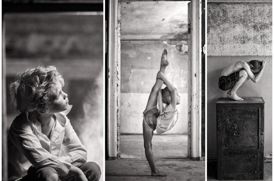 """Fotografijos iš serijos """"Senų dvarų vaikai"""""""