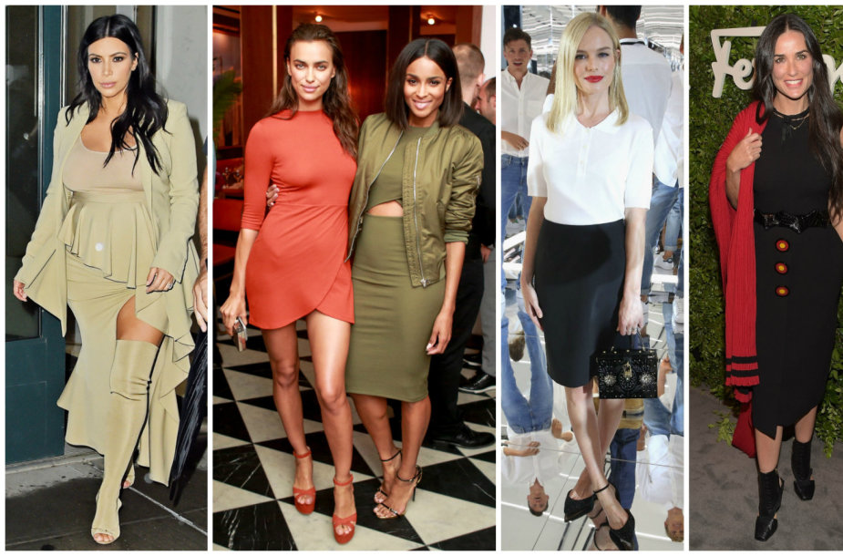 Kim Kardashian, Irina Shayk, Ciara, Kate Bosworth, Demi Moore ir Jessica Alba