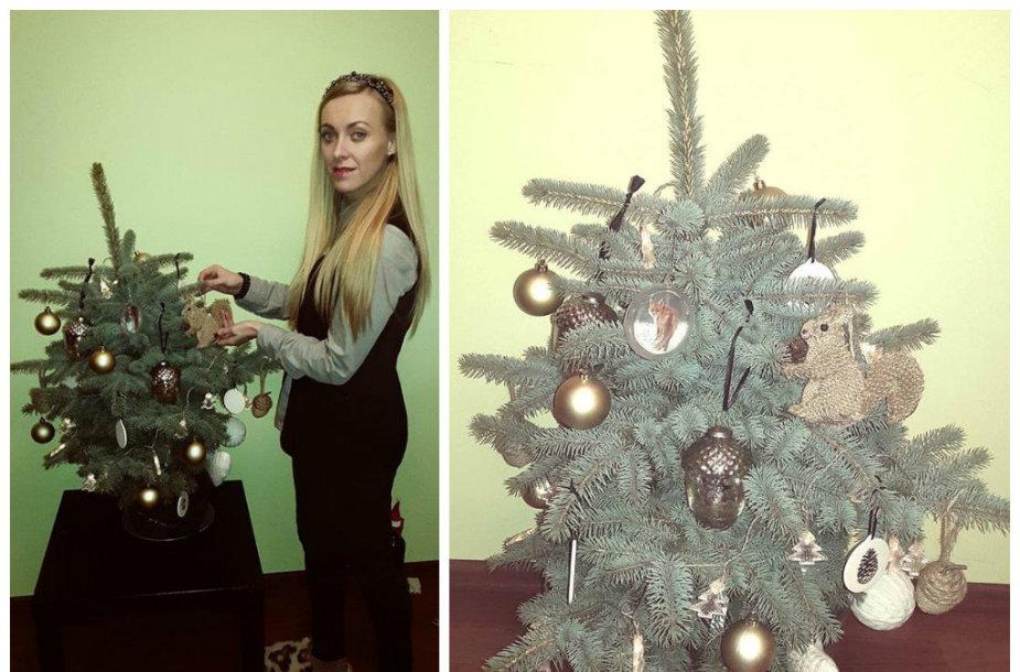 Baiba Skurstene-Serdiukė ir jos Kalėdų eglė