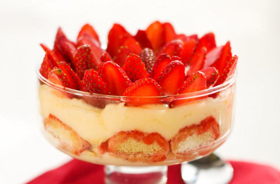 Itališkas braškių desertas