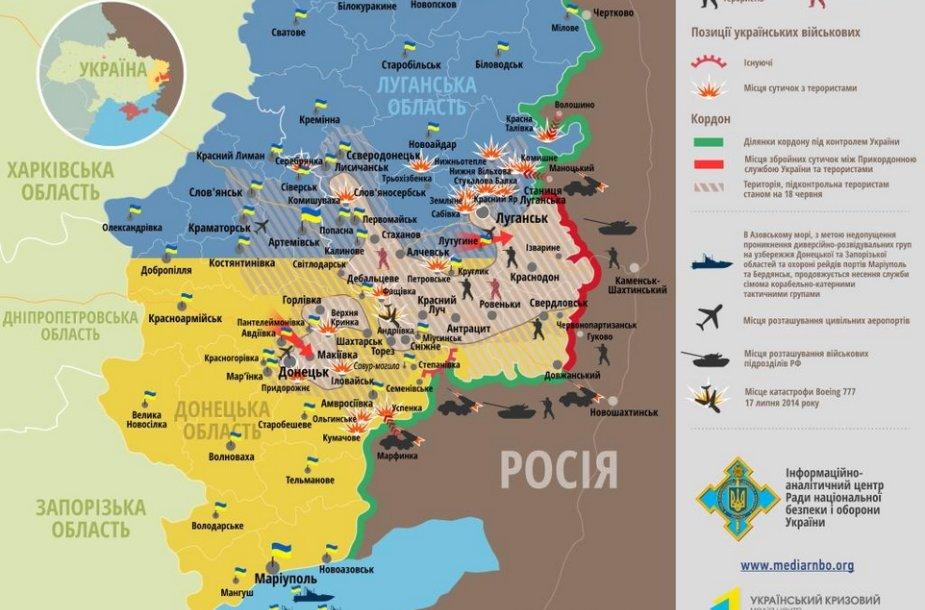 Situacija rytų Ukrainoje rugpjūčio 13 d.