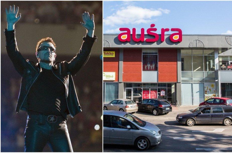 U2 lyderis Bono atsisako investicijos į prekybos centrą Utenoje