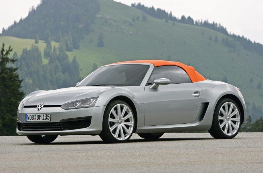 Volkswagen BlueSport būtų buvęs ryškiausias automobilis markės gamoje.