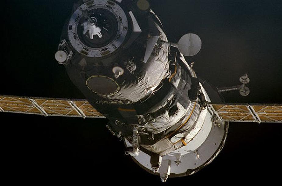 """Rusijos kosminė kapsulė """"Progress MS-07"""""""