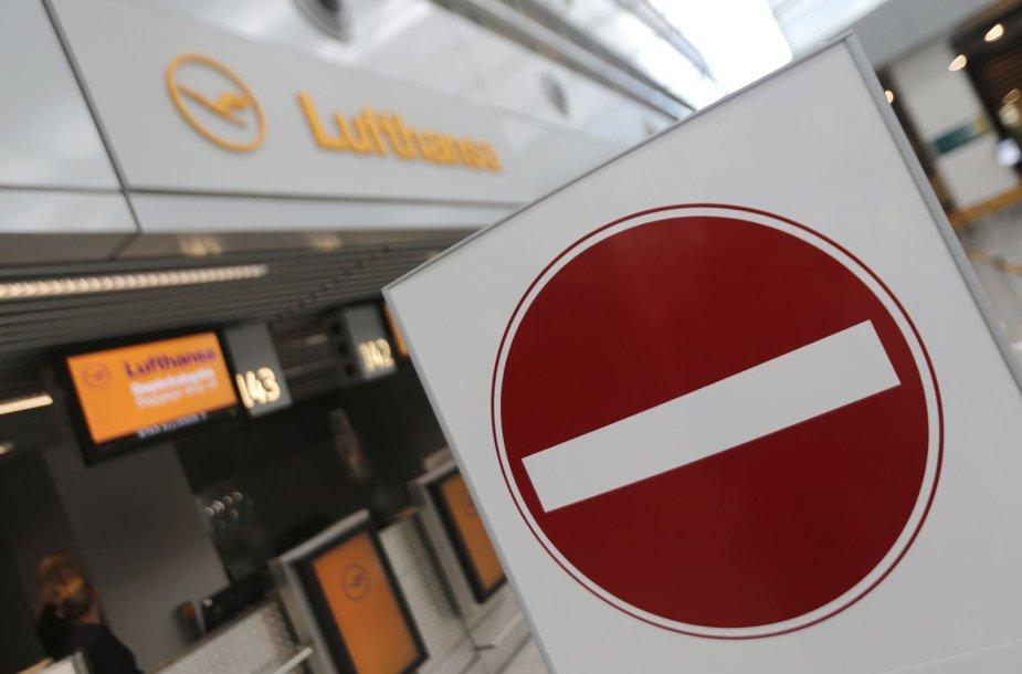 """""""Lufthansa"""" pilotai paskelbė streiką Vokietijoje"""