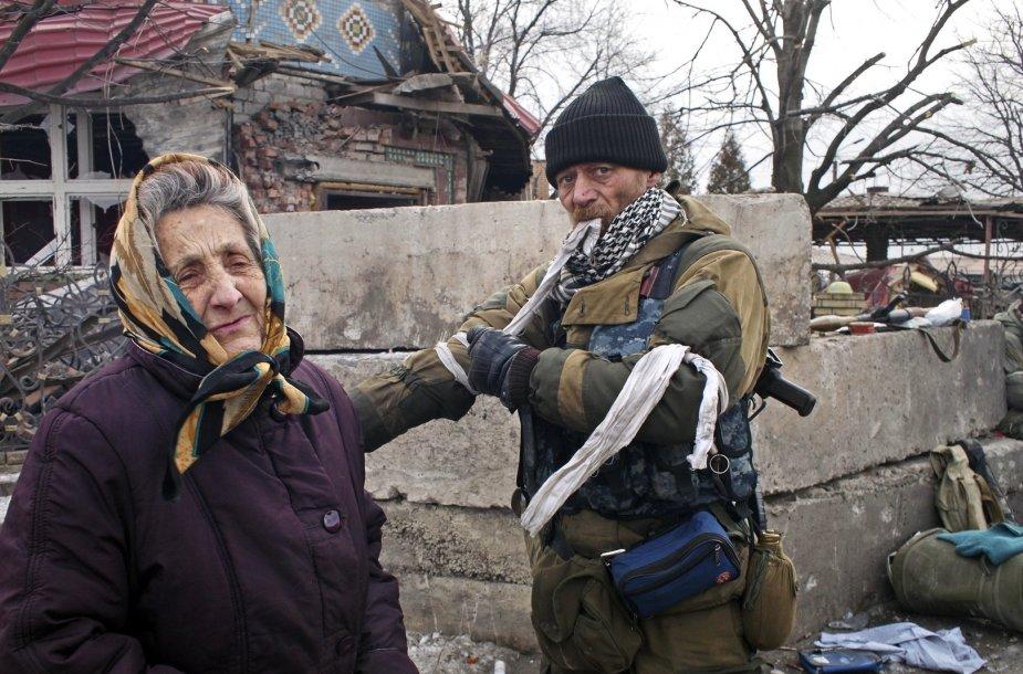 Debalcevės gyventoja prie Rusijos teroristo