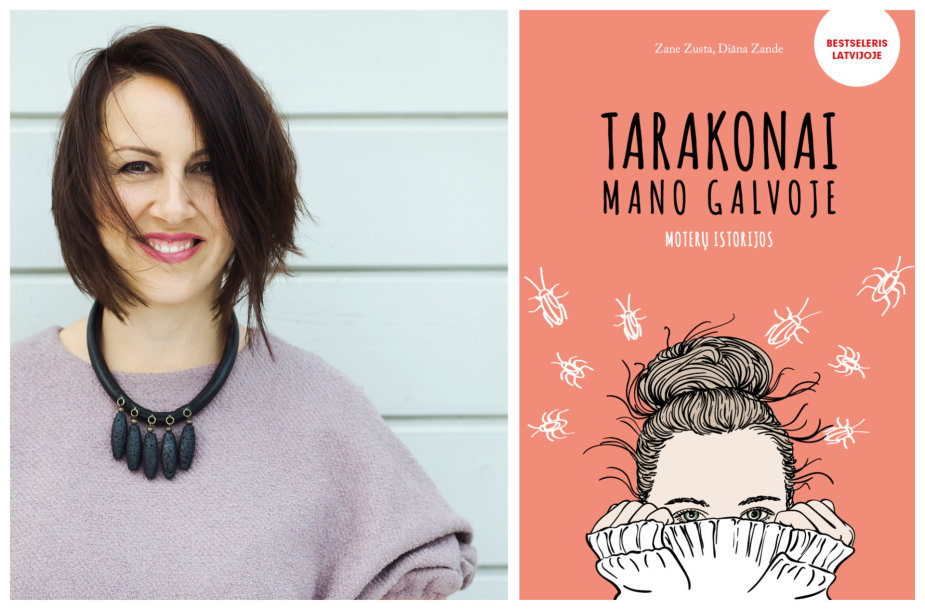 "Zane Zusta ir knyga ""Tarakonai mano galvoje"""