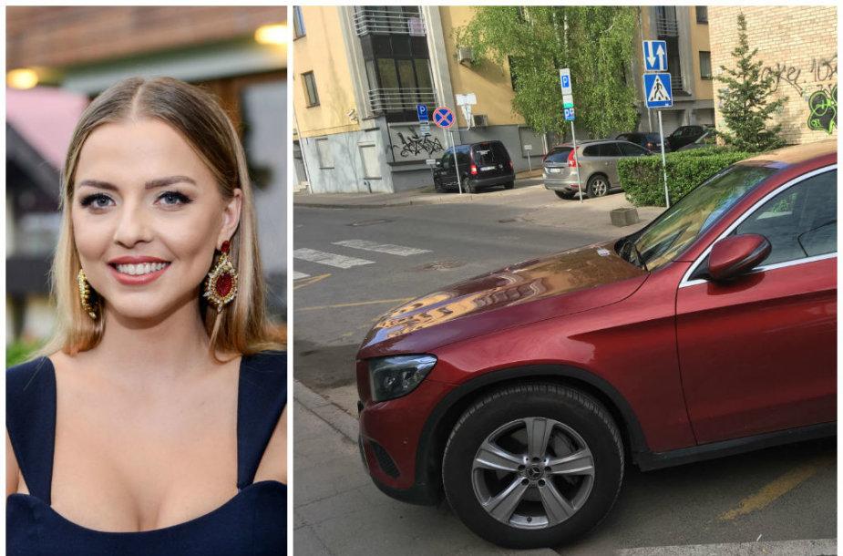 Vaida Skaisgirė ir jos automobilis