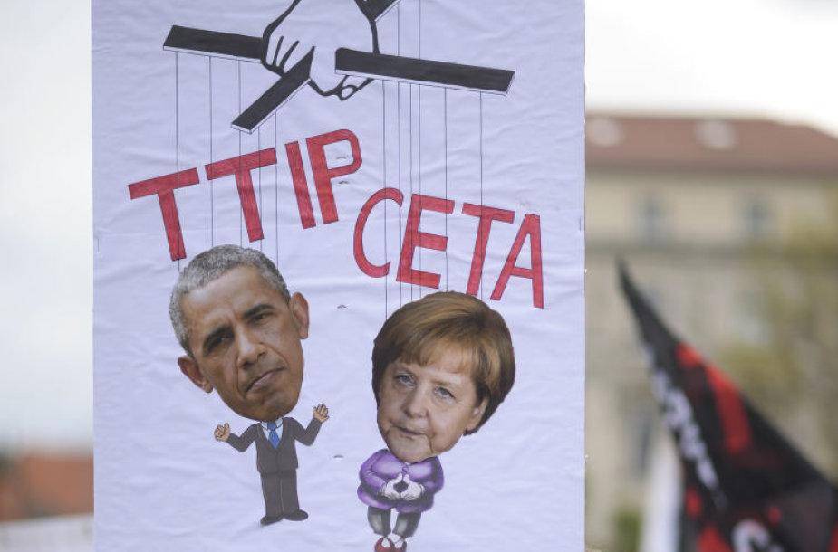 Protestai prieš laisvosios prekybos susitarimus su JAV ir Kanada