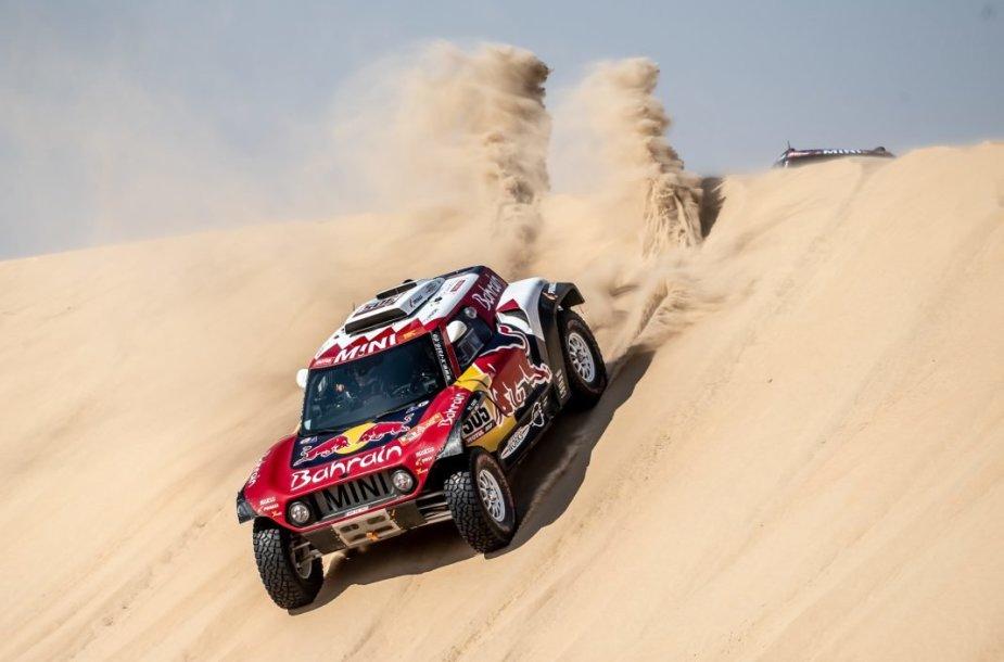 2020-ųjų Dakaro ralio nugalėtojas MINI John Cooper Works Buggy. (BMW Group nuotrauka)