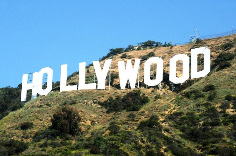 """Užrašas """"Hollywood"""" Los Andžele"""