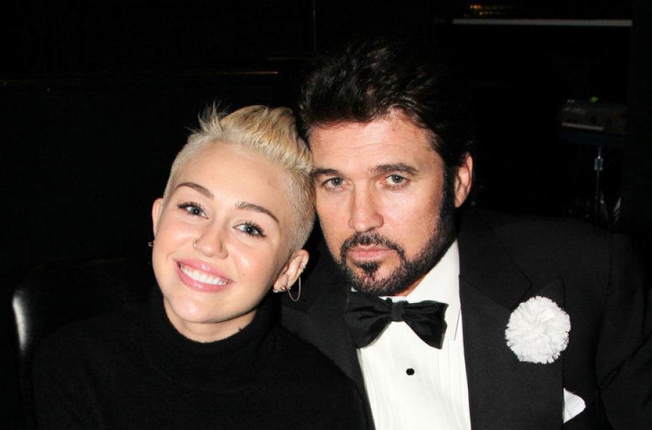 Miley Cyrus su tėčiu Billy Ray Cyrusu