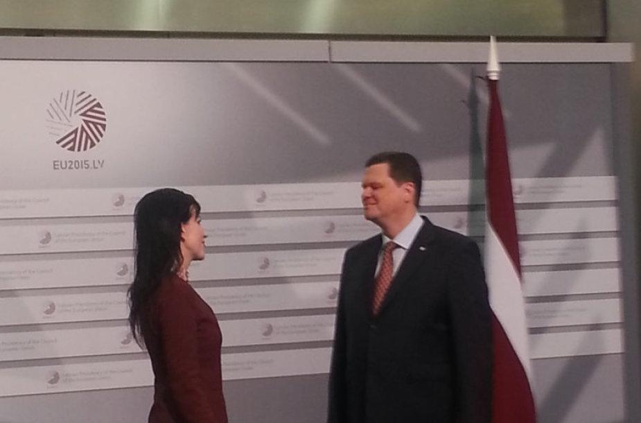 Viceministrė Daiva Matoninės su Latvijos aplinkos apsaugos ir regioninio vystymo ministru Kasparu Gerhardu