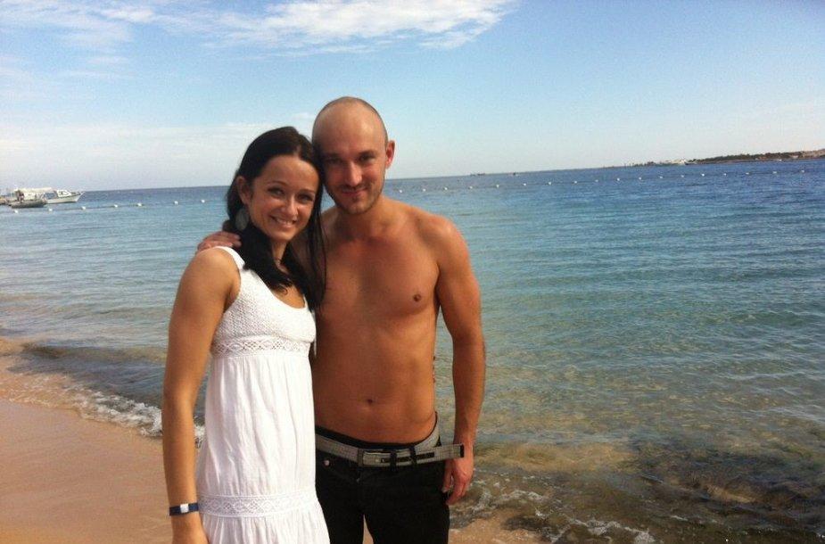 Donatas Baumila ir Rasa Židonytė Egipte