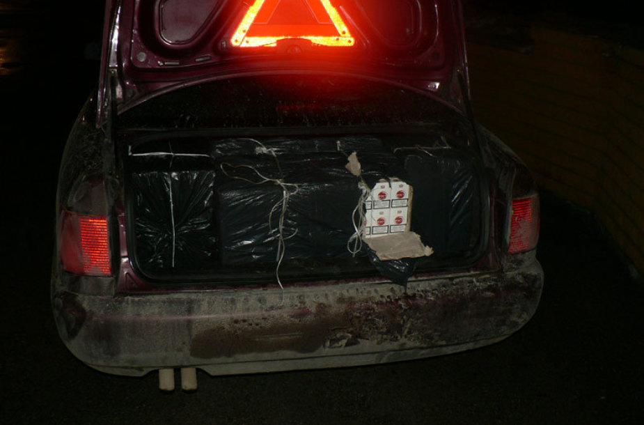 Kontrabandos prikrautas automobilis