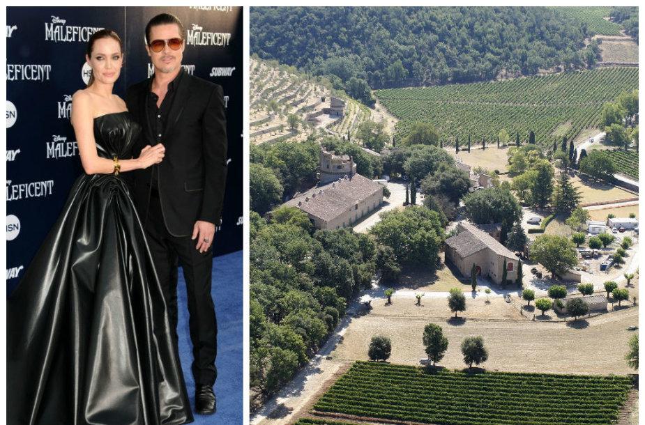 """Angelinos Jolie ir Brado Pitto dvaras """"Chateau Miraval"""" Provanse"""