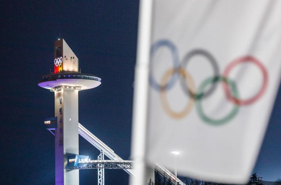 Pjongčangas pasirengęs žiemos olimpinių žaidynių atidarymui.