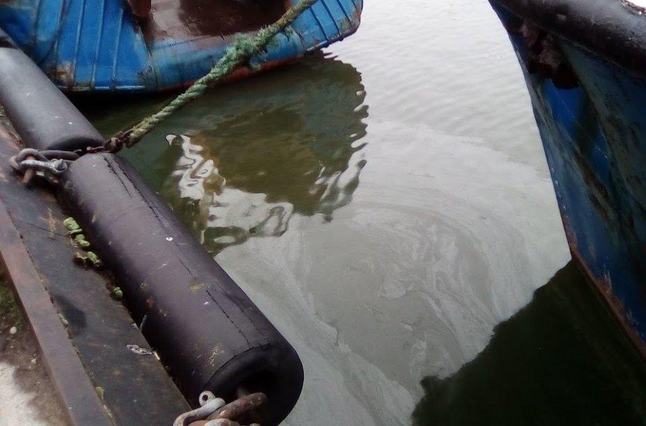 Klaipėdos valstybiniame jūrų uoste į vandenį išsiliejo alyva