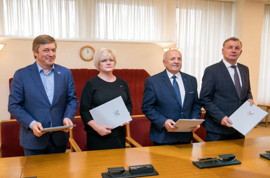 Ramūnas Karbauskis, Vanda Kravčionok, Vytautas Kamblevičius, Rimantas Sinkevičius