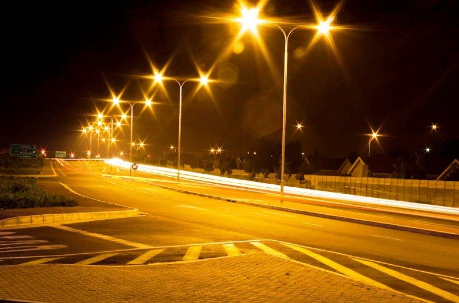 Kauno gatvės naktį