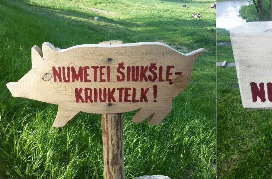 Ženklai Krekenavos regioniniame parke