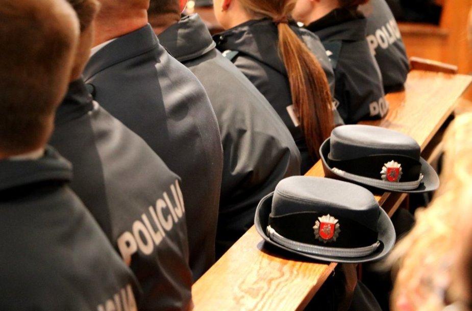 Kaune prisiekė dešimtys policijos kursantų