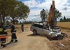 Vaizdo įrašas paneigė apkalbas, kad girto vairuotojo BMW 150 km/val. greičiu rėžėsi į ekskavatorių