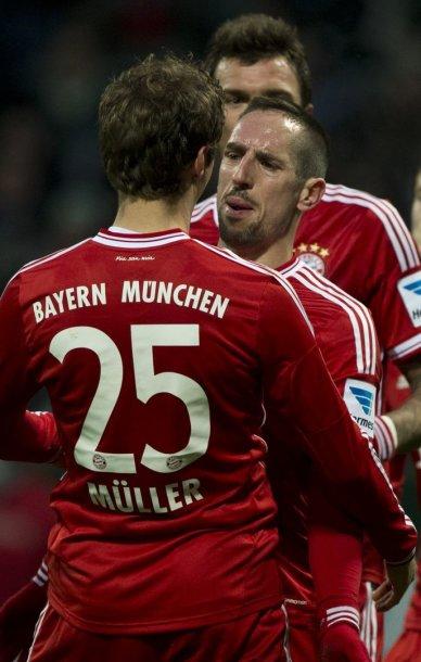 Franckas Ribery ir Thomas Muelleris