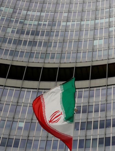 Irano vėliava prie TATENA būstinės