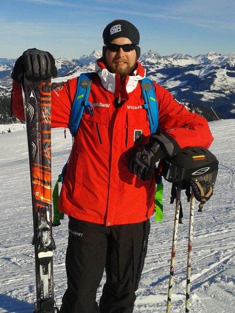 Slidinėjimo instruktorius Lukas Jankauskas Alpėse